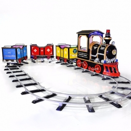 ride track mini arcade electronic kids train game machine