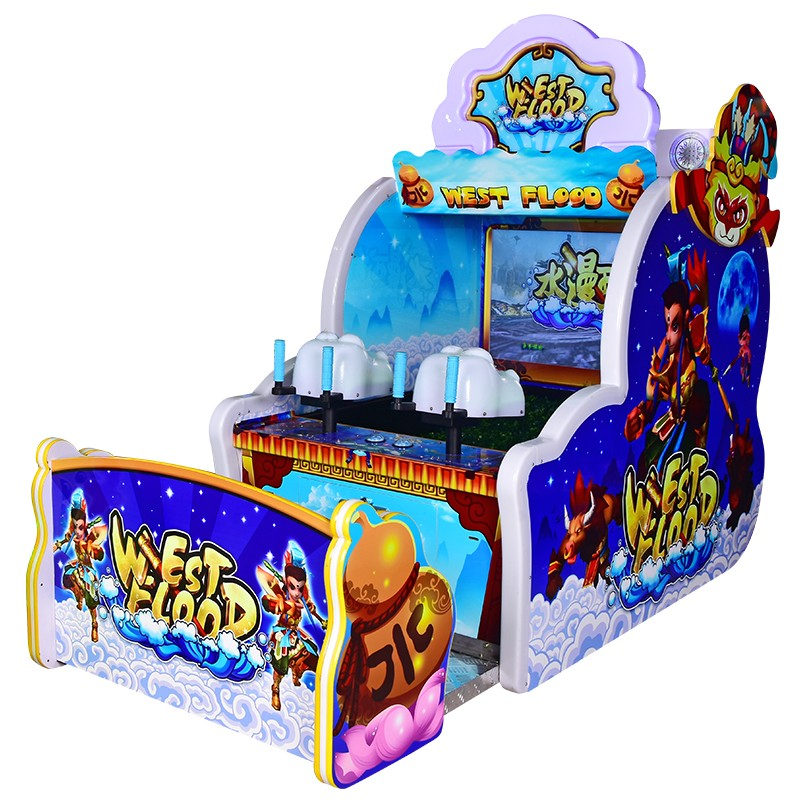 west flood Two Players Water Gun Shooting Game Machine