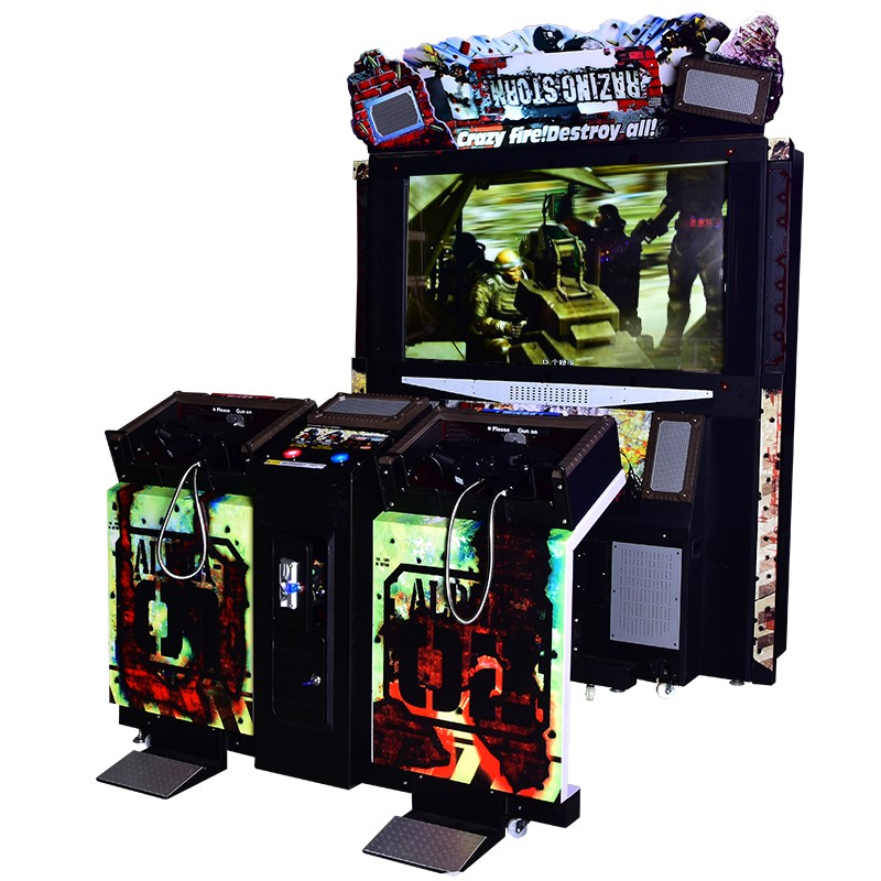 Razing Storm shooting gun arcade machine