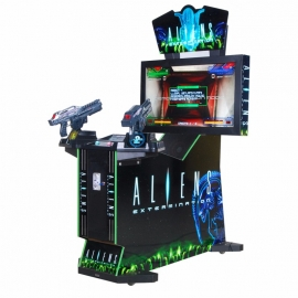 Adult alien  gun shooting arcade game machine
