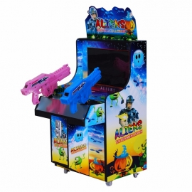 Children shaped double gun simulator shooting arcade kids game machine