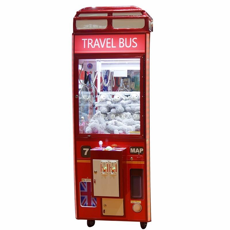 British wind doll machine coin operated claw crane machine