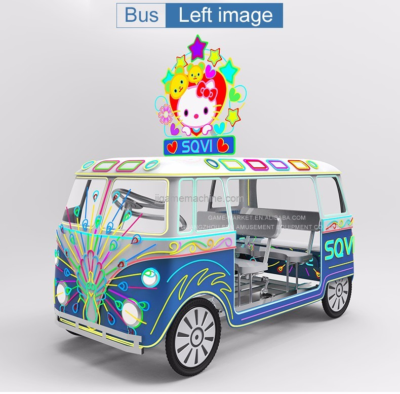 parent-child trip exercise sports pedal amusement park cars games bus