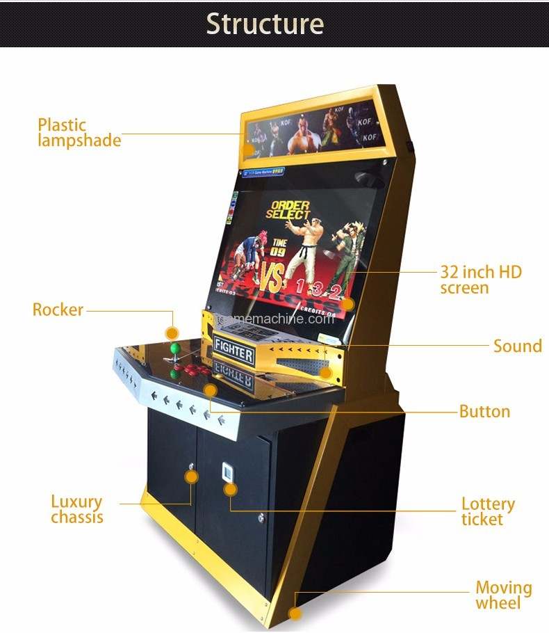 Ultimate Battle coin operated fighter arcade machine structure
