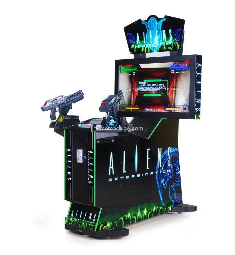Adult alien  gun shooting arcade game machine