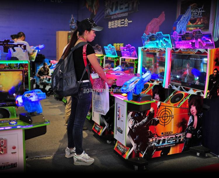 Full power open shooting simulator gun shooting video arcade game machine