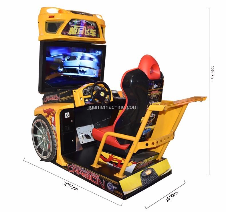 Flying racing car simulator arcade 4d racing car game machine size