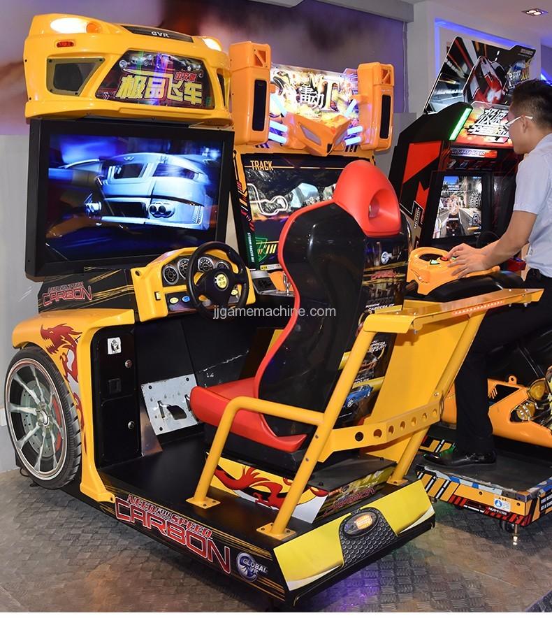 Flying racing car simulator arcade 4d racing car game machine
