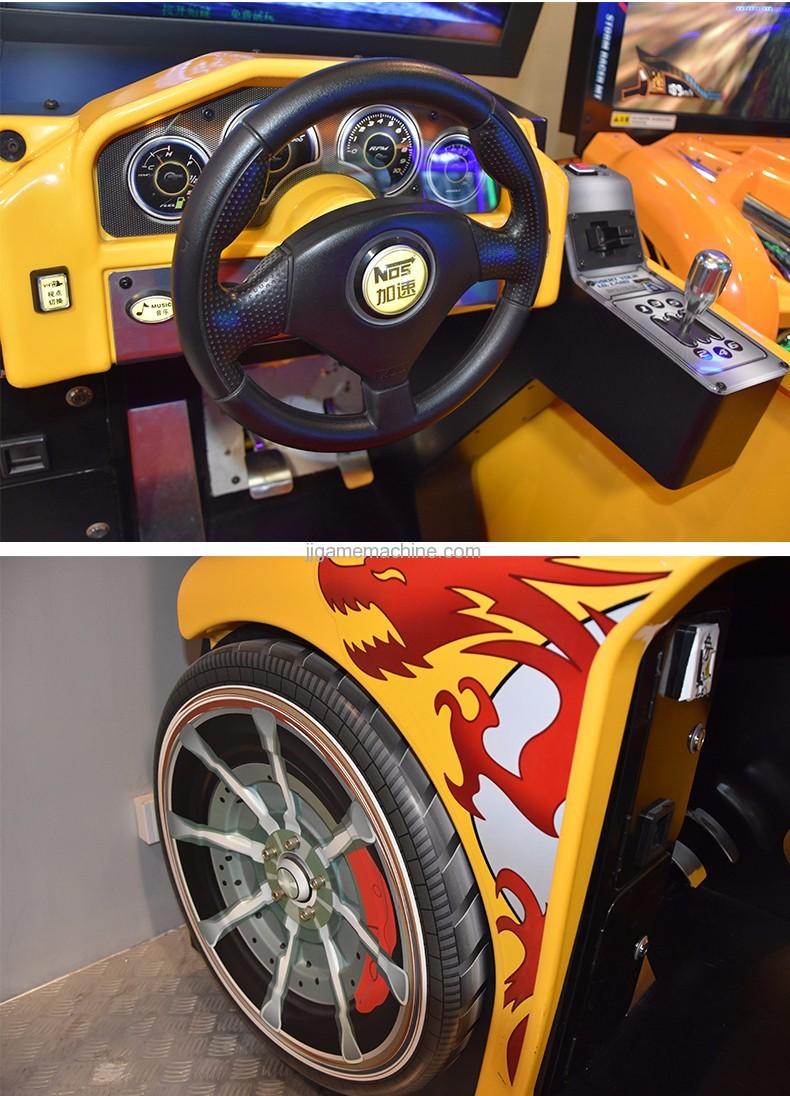 Flying racing car simulator arcade 4d racing car game machine wheel