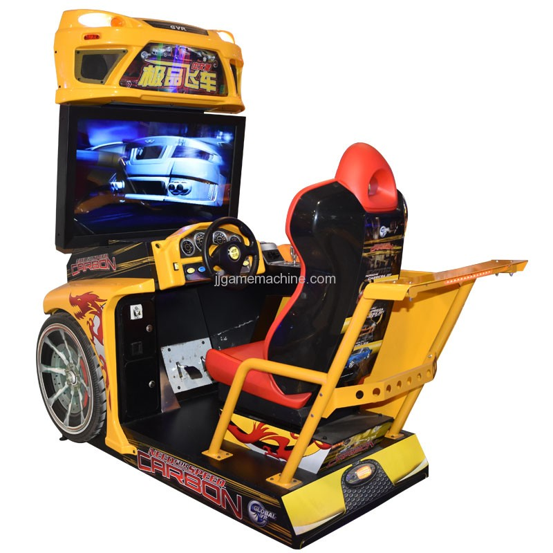 Flying racing car simulator arcade 4d racing car game machine