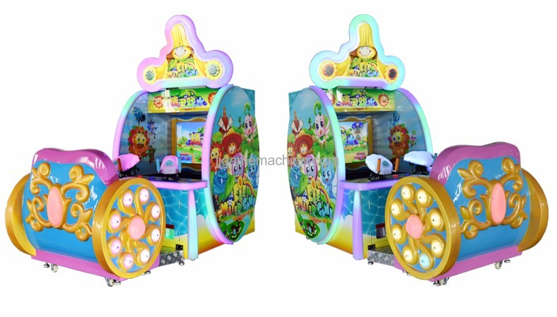 Elves shooting water arcade video screen simulator water shooting game machine