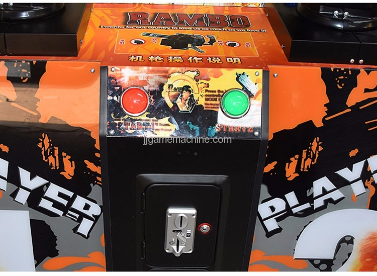 Stallone(Rambo) II simulate arcade shooting game machine