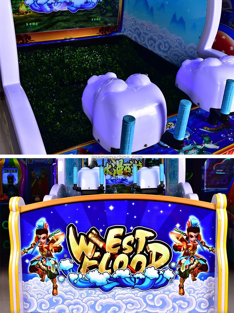 west flood Two Players Water Gun Shooting Game Machine details