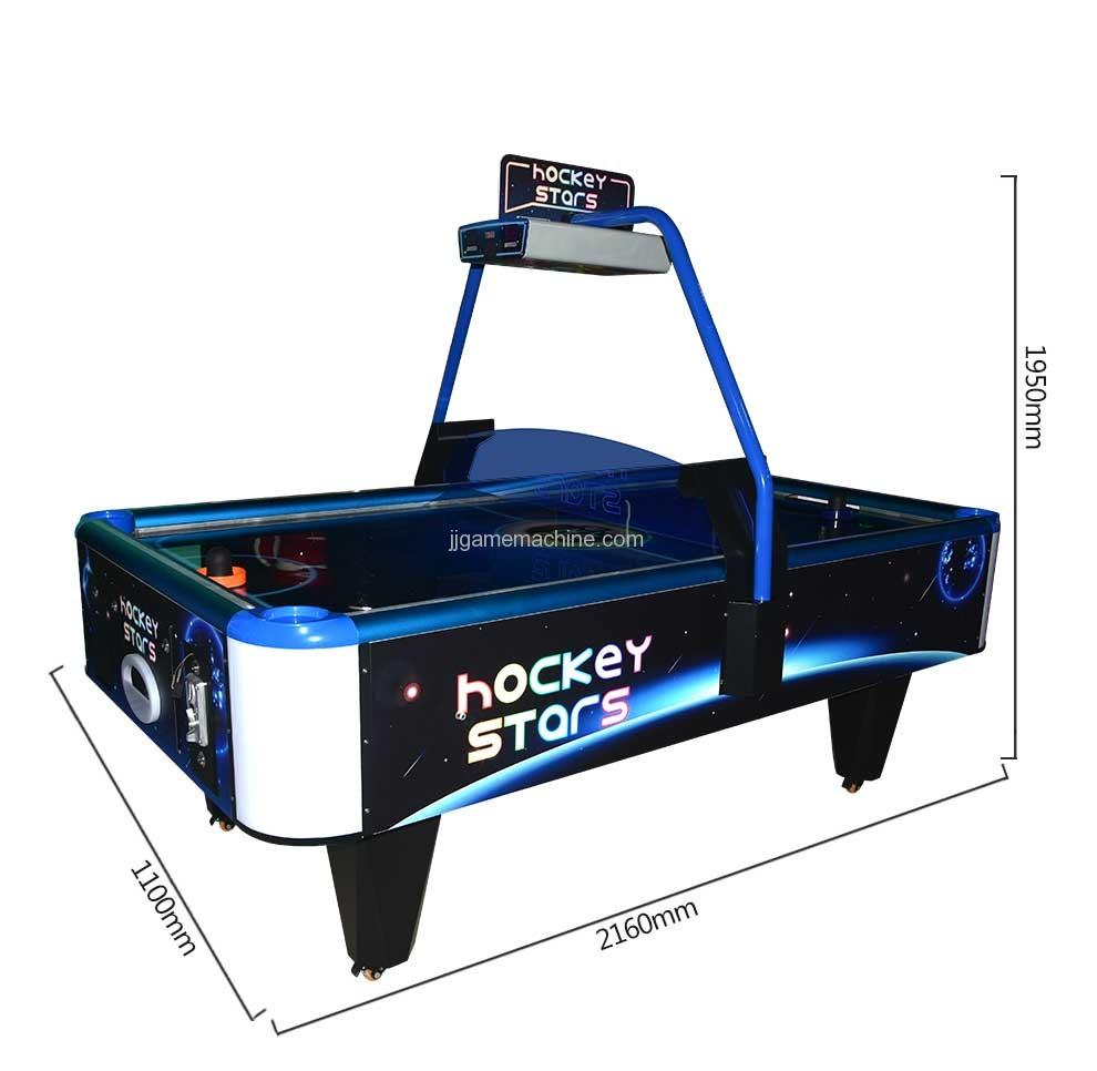Stars Air Hockey Machine size