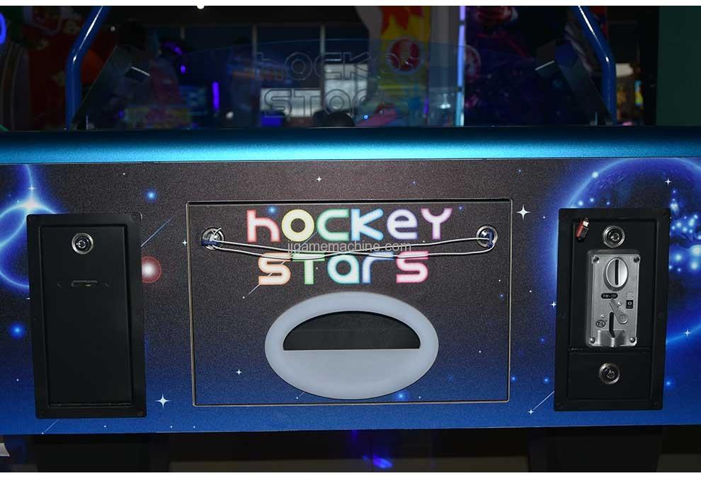 Stars Air Hockey Machine coin insert