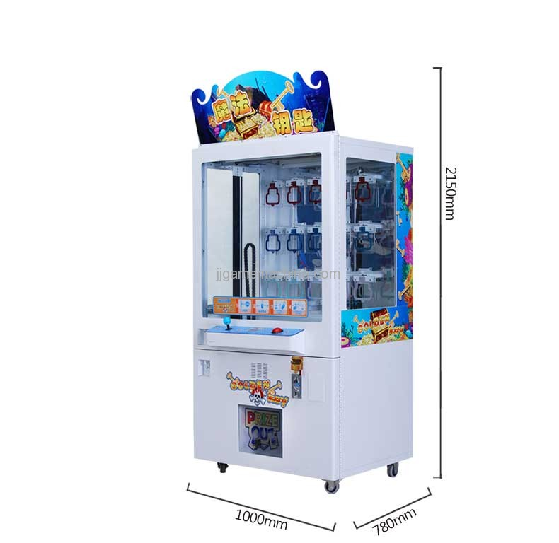 Golden Key Prize Game Machine size