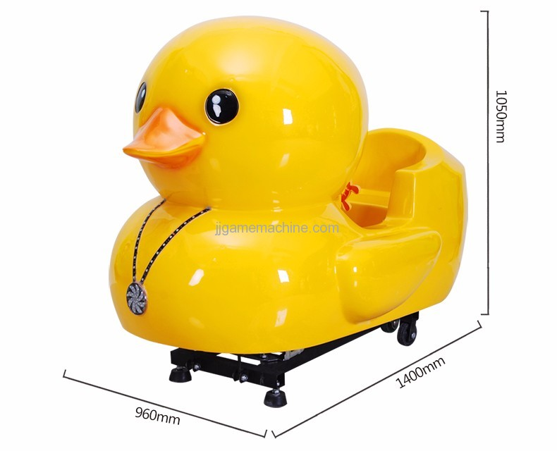 Yellow Duck kiddle ride game machine