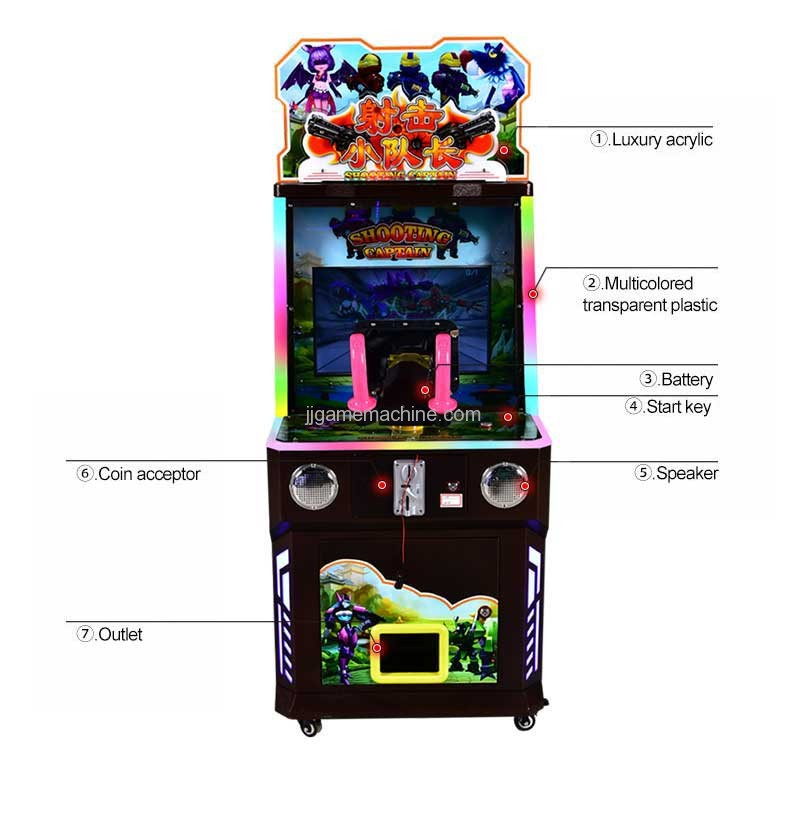 Shooting captain video game machine structor description