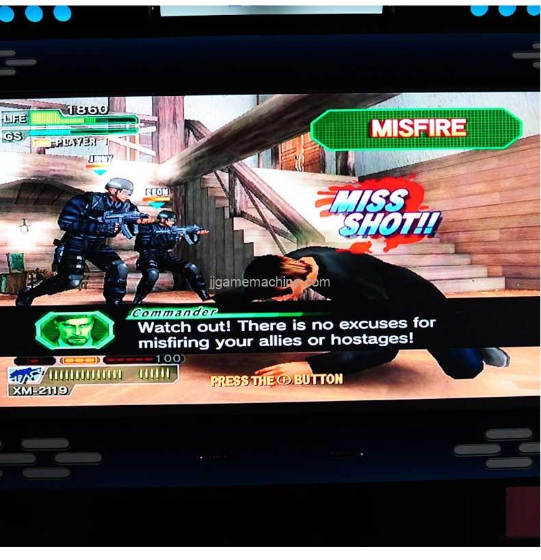 Ghost squad evolution video arcade machine game screen