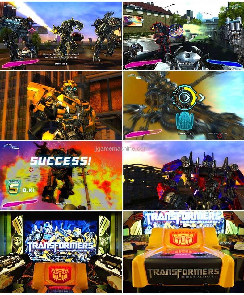 Transformers human alliance video shoot machine screen capture