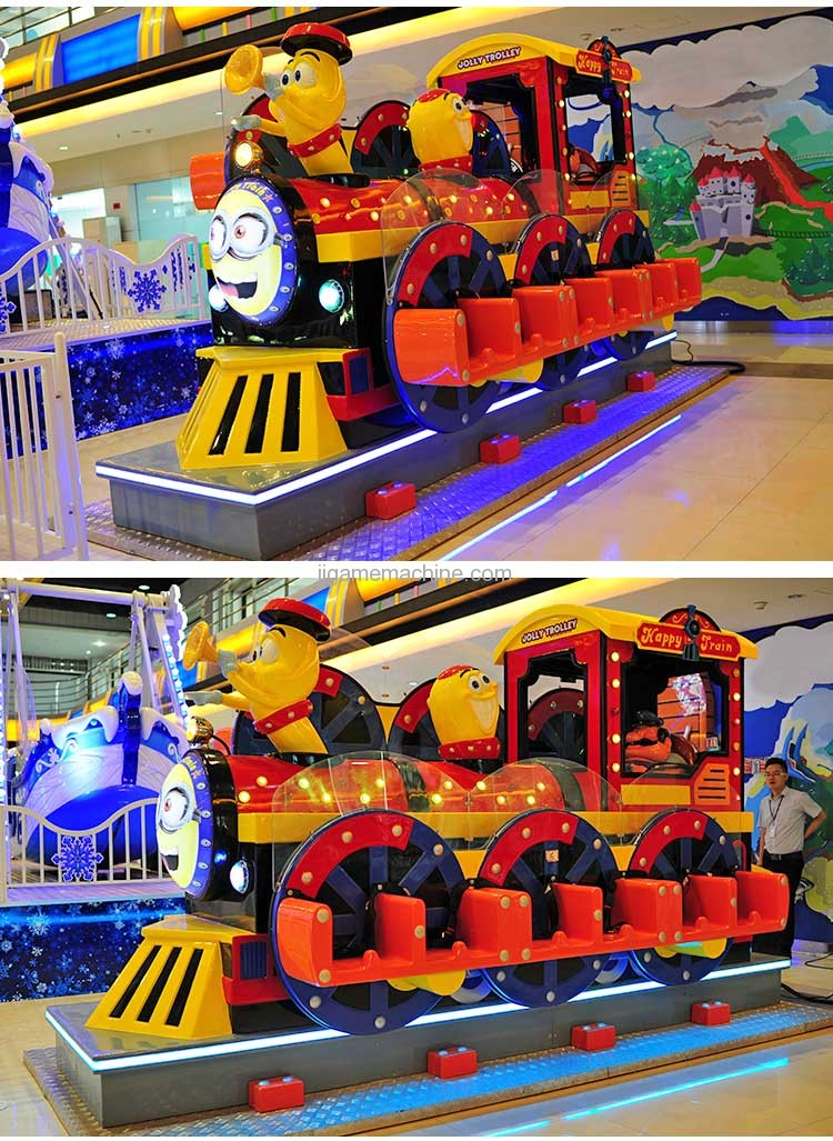 12-seat jolly trolley happy train kiddle ride game machine