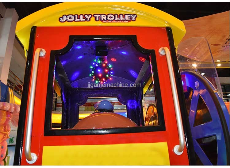 12-seat jolly trolley happy train kiddle ride game machine beautiful lights