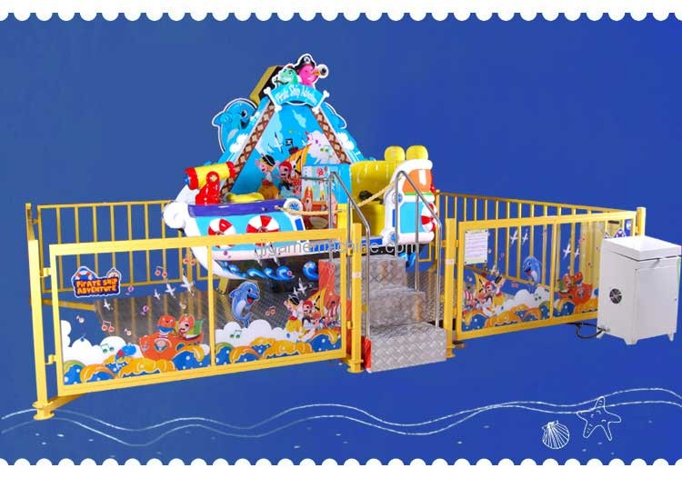 happy pirate ship adventure kiddie ride