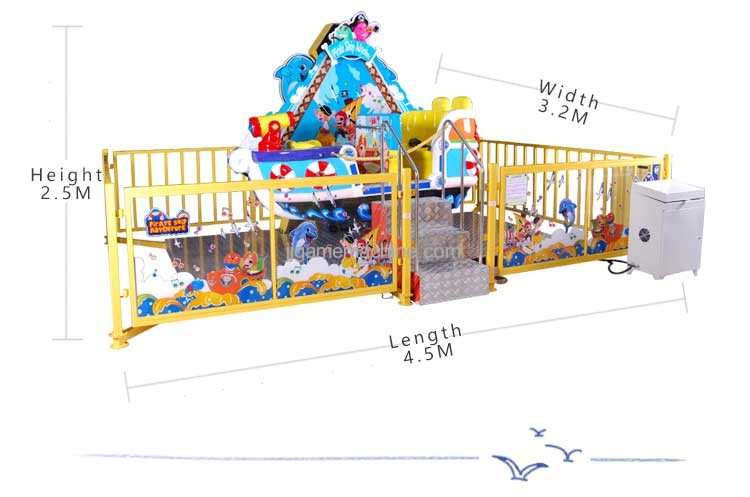 happy pirate ship adventure size