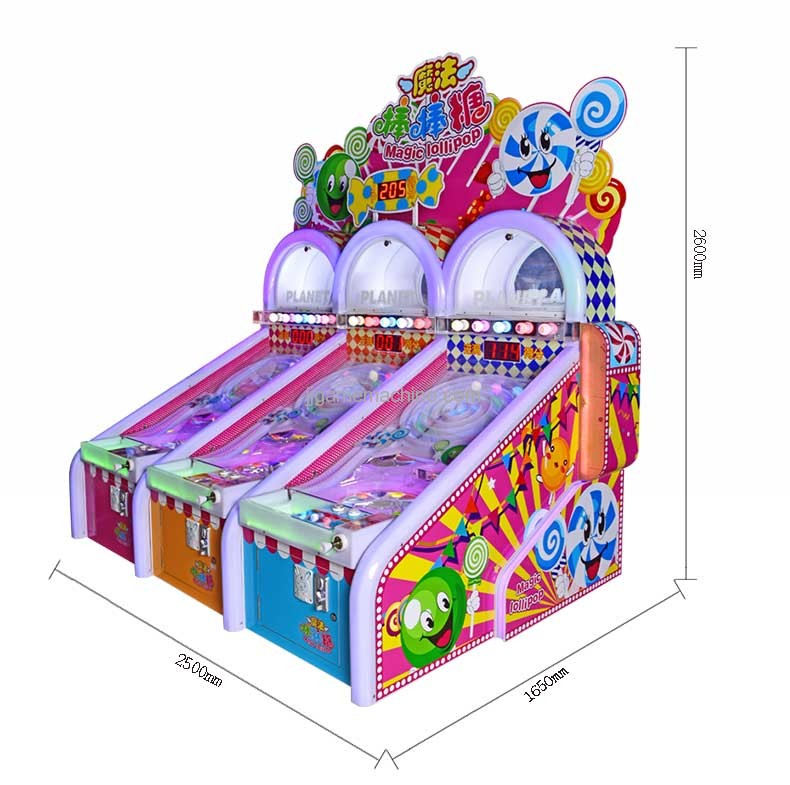 Magic lolipop pinball machine size