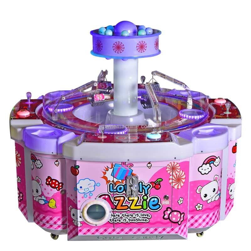 four person cute candy gift redemption claw candy machine