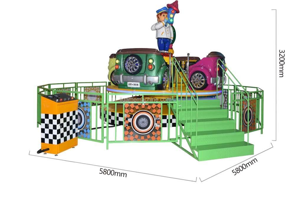 8-seat cyclone racing carousel amusement machine