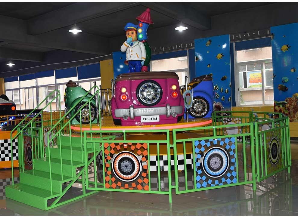 8-seat cyclone racing carousel amusement machine
