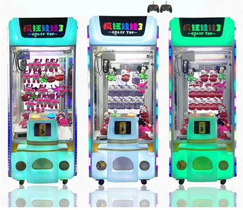 crazy toy crane claw game machine