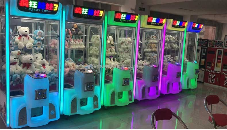 crazy toy crane claw game machine