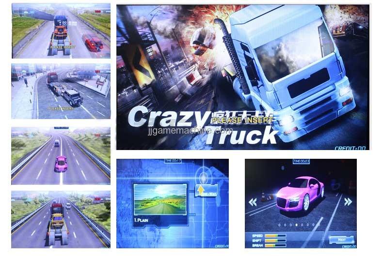 crazy truck kids video racing game machine