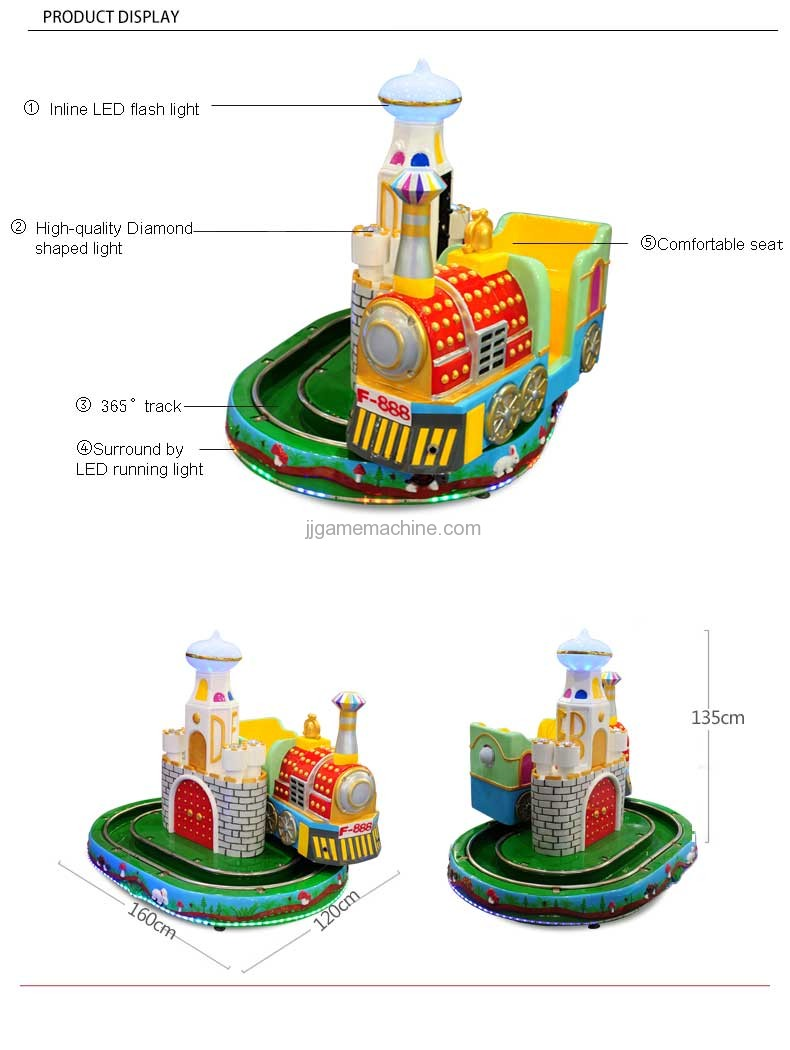 Castle mini Train simulation track kiddie ride structor