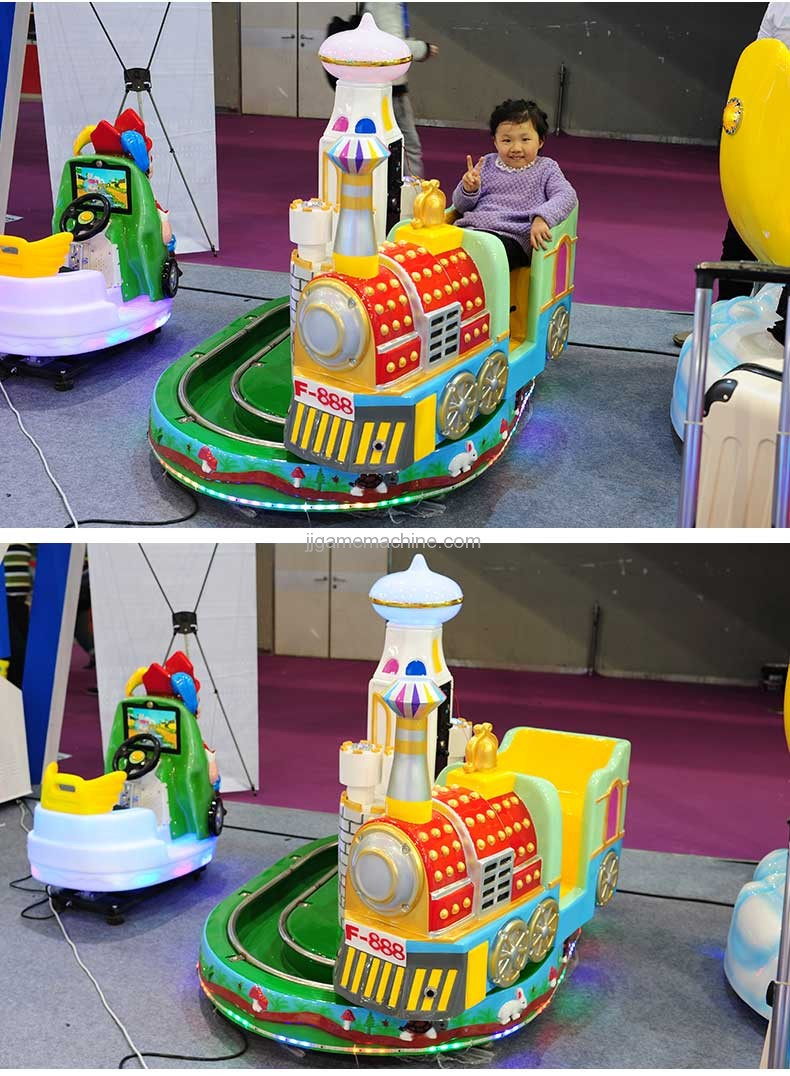Castle mini Train simulation track kiddie ride show