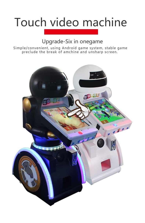 Touch robot video machine kids hit game machine