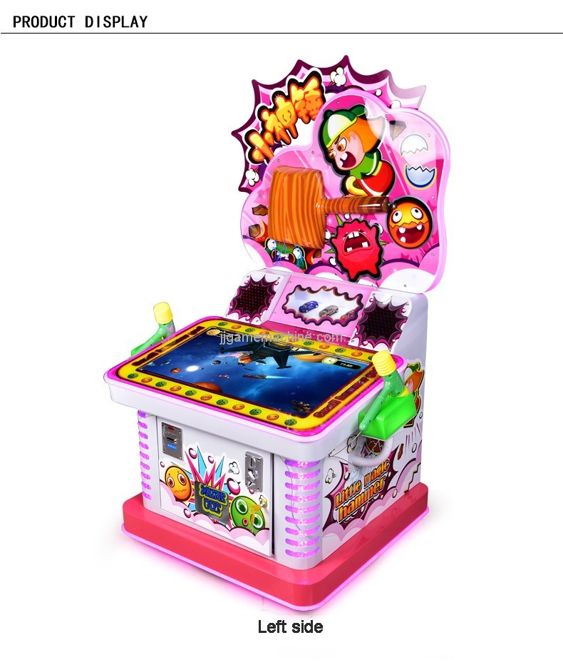 Indoor amusement equipment kids learning coin operated electronic hit hammer arcade machine