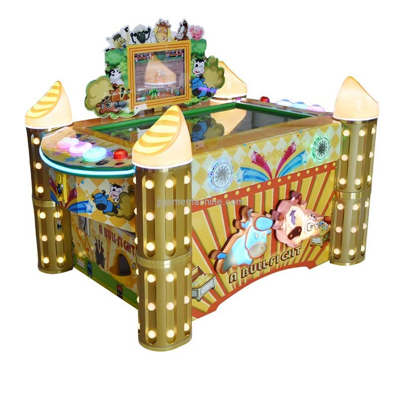 Bull fighting redemption lottery ticket arcade table game machine
