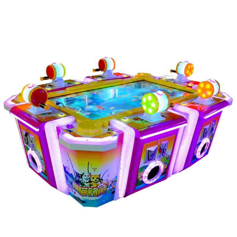 Kitten Fishing-Adults/Kids 6 players Arcade Table fish hunting games