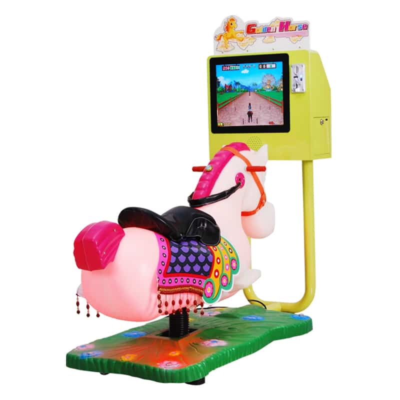 3D Small Horse Racing Kiddie Rides