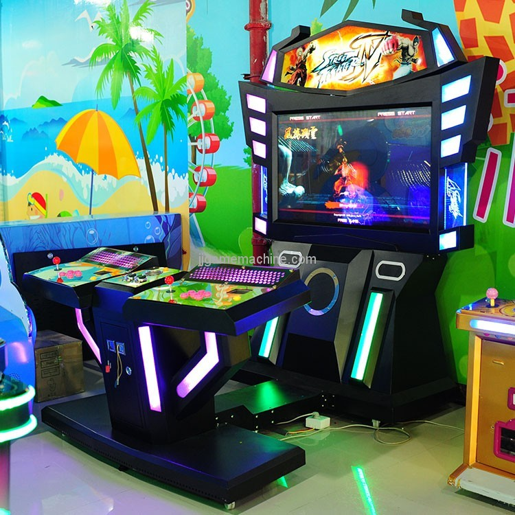 CE approval luxury two players fighting game center amusement equipment street fighter arcade machine