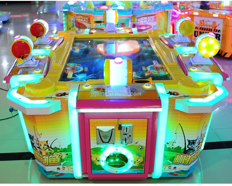 CE approval Kitten Fishing-Adults/Kids 6 players Arcade Table fish hunting games