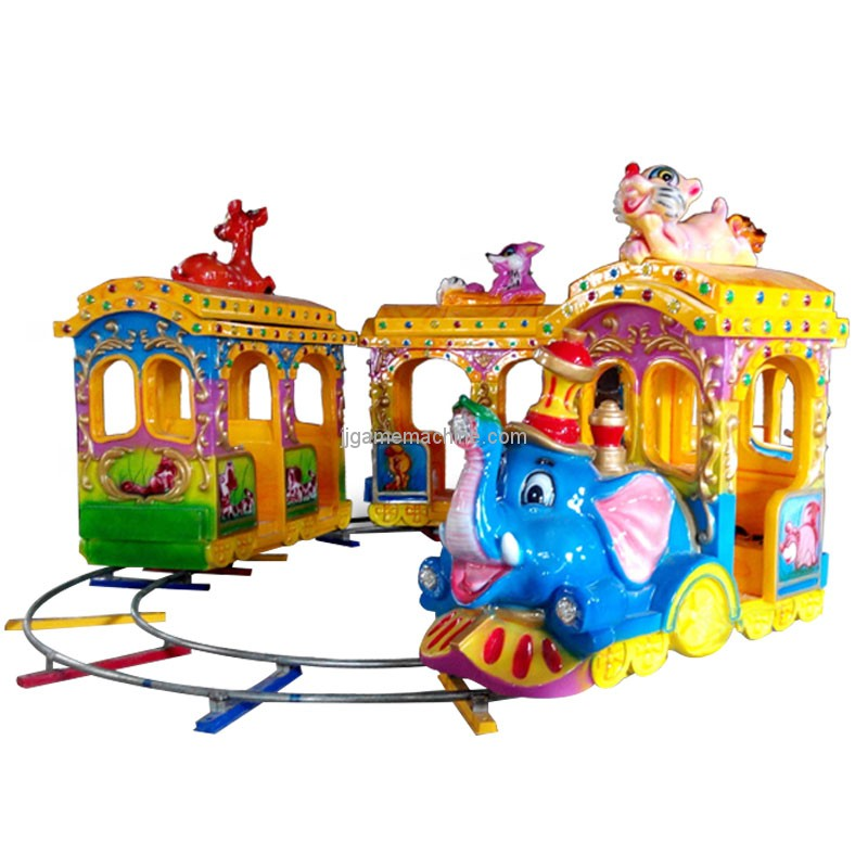 Hot sale amusement park elephant shape kids track train electric ride on train for sale