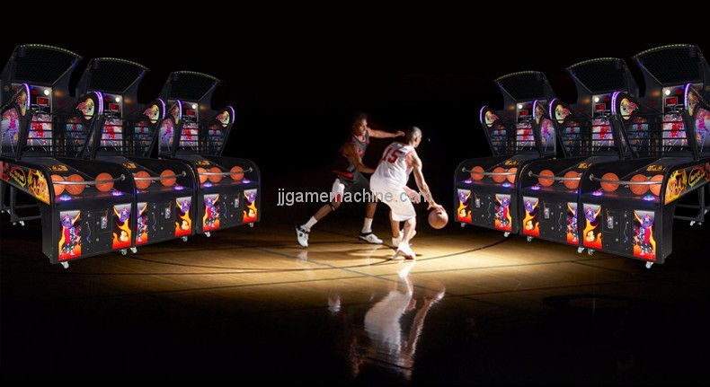 LED lights popular luxury electronic street arcade machine basketball training machine