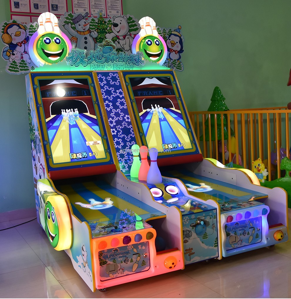 Coin operated bowling machine redemption game machine for sale