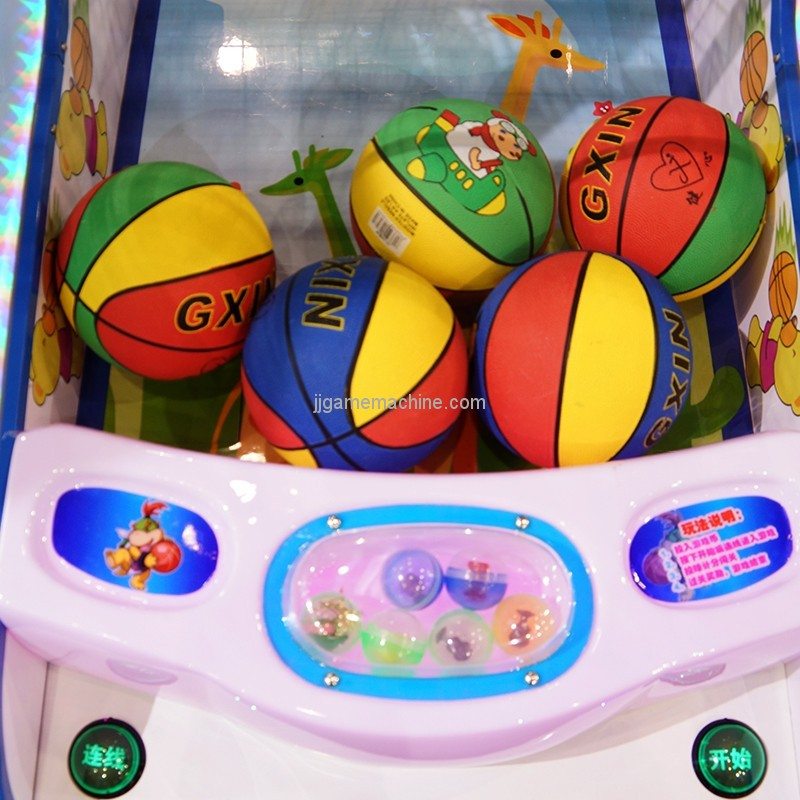 Hot sale coin operated electronic children amusement basketball machine