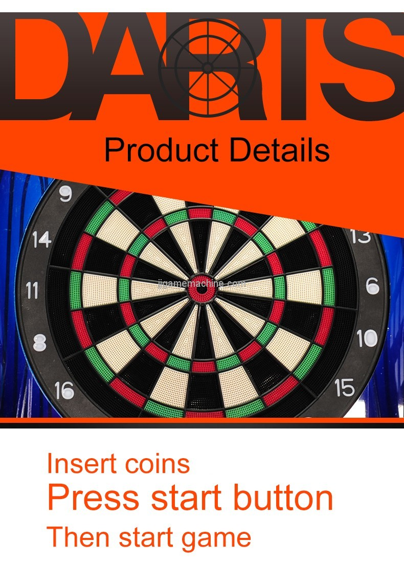 CE approval new arrival indoor arcade machine coin-operated dart machine