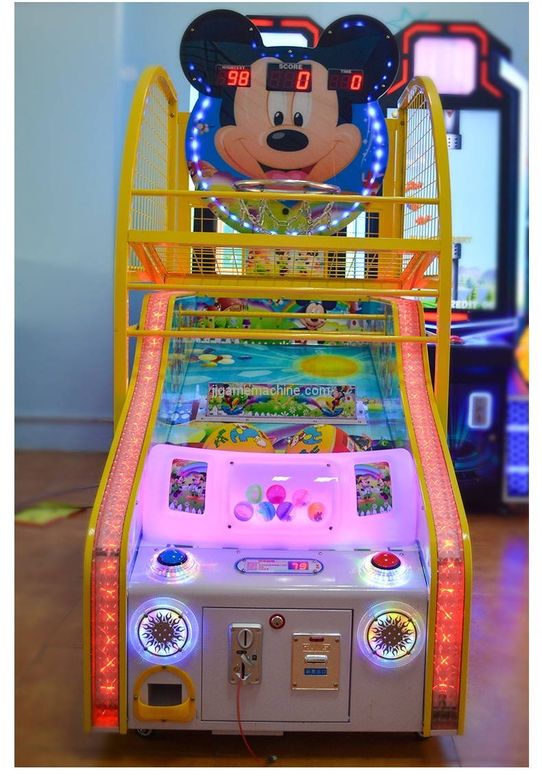 2018 new arrival two players lottery/capsules redemption coin-operated arcade basketball machine for kids